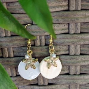Jewelry - Handcrafted mother of pearl earrings